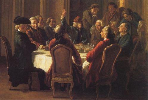 Jean Huber, Un dîner de philosophes, 1772 ou 1773, Voltaire Foundation, Oxford