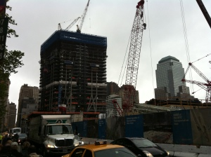 Site du World Trade Center en reconstruction