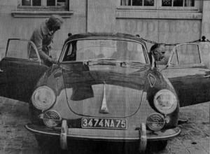 Georges Pompidou et sa Porsche 356